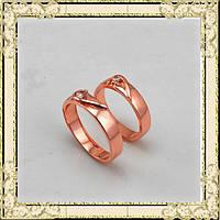 Кольцо циркон покрытие золото 18К сплав титана