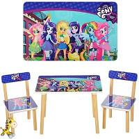Набор стол и 2 стула Пони