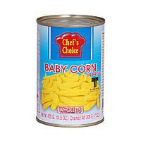 Бэби кукуруза в рассоле (целая, размер S) 420 гр, TM CHEF'S CHOICE