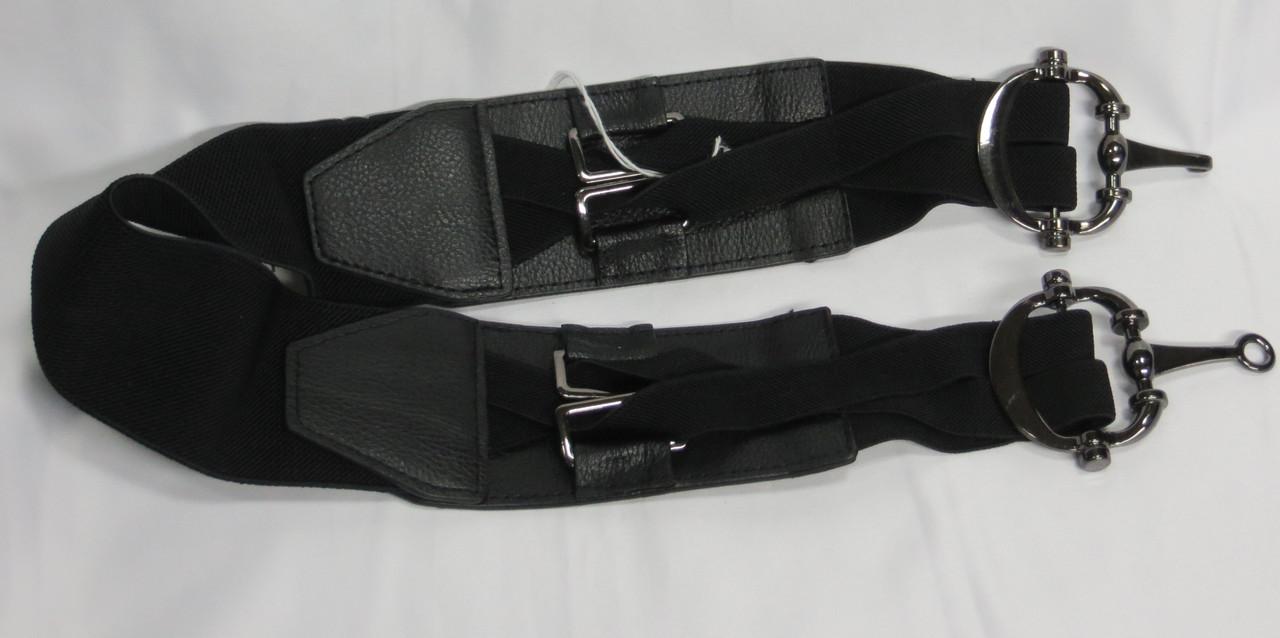Пояс женский с резинкой черный ДхШ: 78х6 см