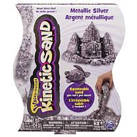Песок для детского творчества KINETIC SAND METALLIC серебряный 454 г