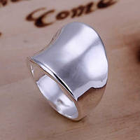 Перстень гладкий дугой покрытие 925 серебро проба