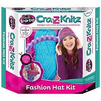 Набор для творчества Вязание Модная шапочка (пряжа, круглый станок, аксессуары)