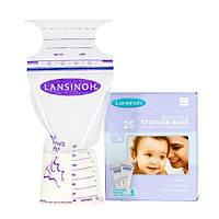 Пакеты Lansinoh для хранения и замораживания грудного молока 25 шт., из полиэтилена