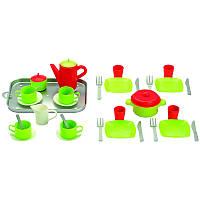 ECOIFFIER Игровой набор Chef-Cook с посудой и подносом на 4 персоны