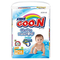 Трусики-подгузники GOO.N для детей 7-12 кг размер M унисекс 58 шт