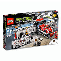 Конструктор Лего 75876 Пит-лейн Porsche 919 Hybrid и Porsche 917K