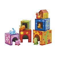 Игра Топанимо ферма 6 кубиков и 6 животных DJECO