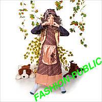 Новогодний костюм для девочки Баба яга