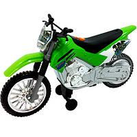 TOY STATE Мотоцикл Kawasaki KLX 140 Moto-Cross Bike со светом и звуком 25 см