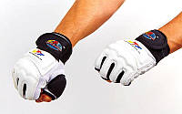 Перчатки для тхэквондо с фиксатором запястья WTF (р-р XS-XL, белый)