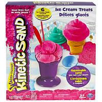 Набор песка для детского творчества KINETIC SAND ICE CREAM розовый формочки 283г