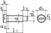 Винт DIN 922 с плоской уменьшенной головкой и цилиндрической цапфой.