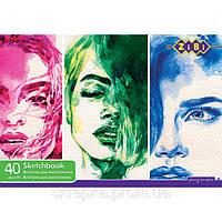 Альбом для рисования 40 листов ZiBi 1460 клееный