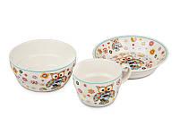 Набор детской посуды столовый Совушка 3 предмета 359-013