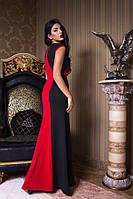 Длинное вечернее платье с комбинацией цветов 3 цвета