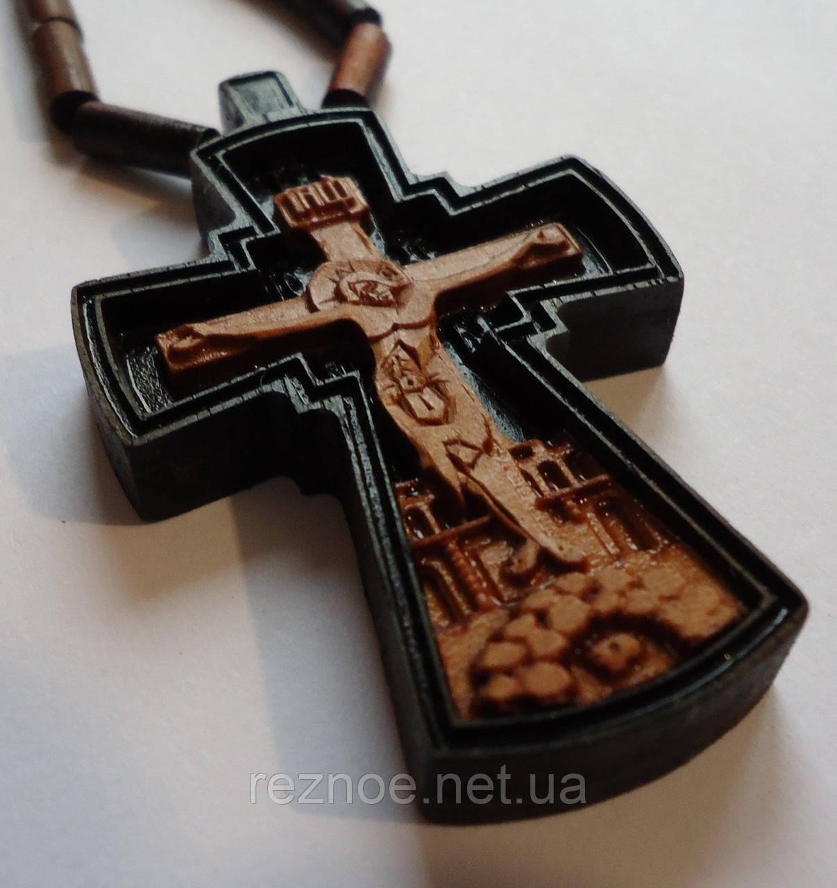Крест нательный резной (с цепочкой)