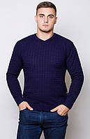 Мужской свитер Код-204-синий.