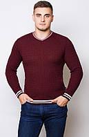 Мужской свитер .Код-213-бордо.