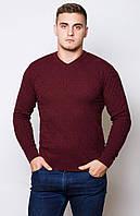Мужской  свитер .Код-208-бордо.