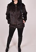 Куртка вязаная из натуральной норки с капюшоном Размеры в наличии : 48,50,52,54 арт.93 (Код: 2500002710436