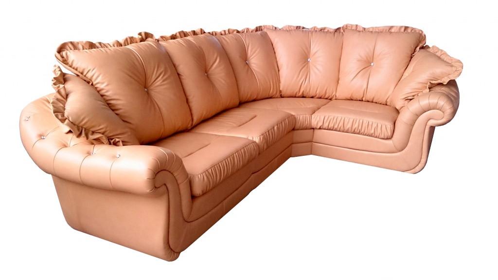 """Раскладной кожаный угловой диван 3Н1 """"Brocard"""" (Брокард). (302*225 см)"""