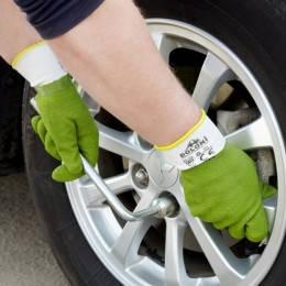 Перчатки латексные зеленые, фото 2