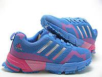Кроссовки Adidas Marathon TR 15 Blue-rose  сине-розовые женские кроссовки