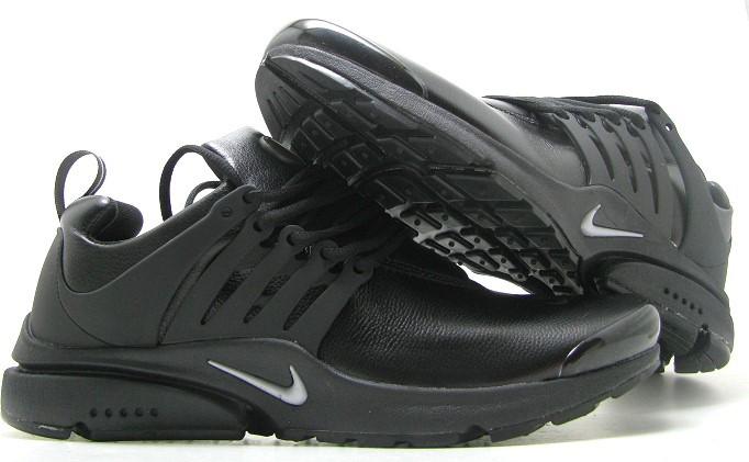 Кроссовки мужские Nike Presto3 кожа в черном цвете