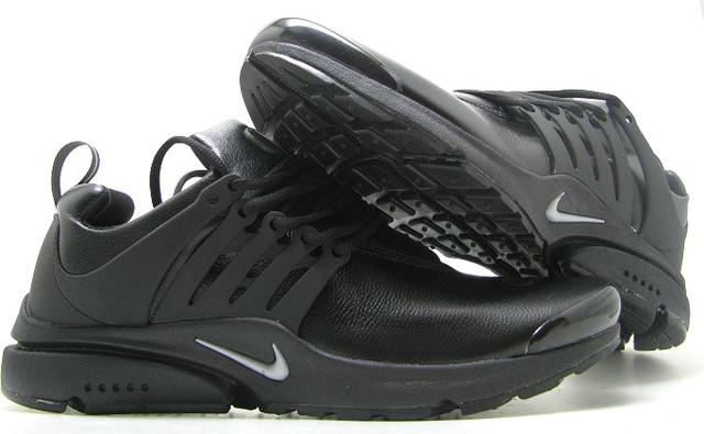 Кроссовки мужские Nike Presto3 кожа в черном цвете оригинал