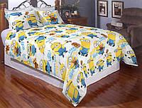 Детское постельное белье Миньоны приключения Боба бязь Турция