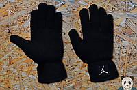 Молодіжні зимові рукавички чорні джордан,Jordan
