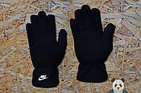 Молодіжні чорні зимові рукавички найк ,Nike