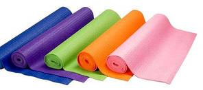 Коврик для фитнеса и йоги-йогамат  толщина 6мм, 5 цветов