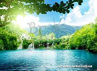"""Фотообои: """"Водопад и озеро"""""""
