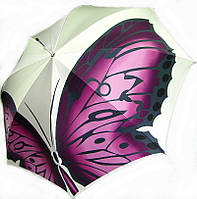Женский Зонт ручной сборки DOPPLER Трость полуавтомат VIP COLLECTION 12021 розовая бабочка
