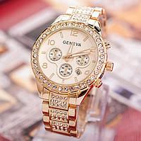 Женские наручные часы золото Geneva
