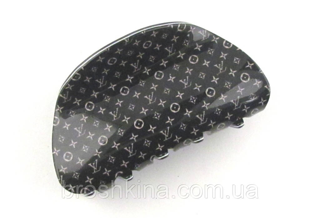 Краб для волос Louis Vuitton 8,5 см черный