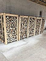 Дрова дубові грабові колоті в ящиках