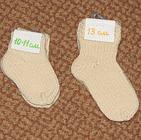 Носки детские стопа 10-11, 13 см, ручная вязка