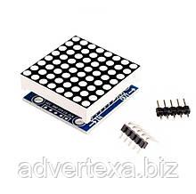 Модуль светодиодной матрицы 8x8 с матричным индикатором 1088AS и драйвером MAX7219 MAX7219CWG