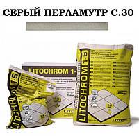 Затирка Litokol Litochrom 1-6 C.30 серый перламутр, 5 кг, фото 1