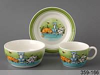 Набор детской посуды столовый Веселые Котята 3 предмета 359-166