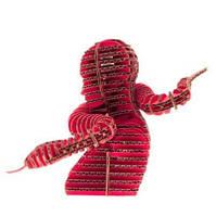 3D пазл из гофрокартона Kawada D-torso Змея красный 4580238618582