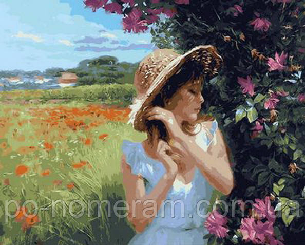 Картина по цифрам Mariposa Девушка в соломенной шляпке Худ Волегов Владимир (MR-Q927)