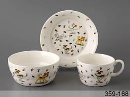 Набор детской посуды столовый Дружок 3 предмета 359-168