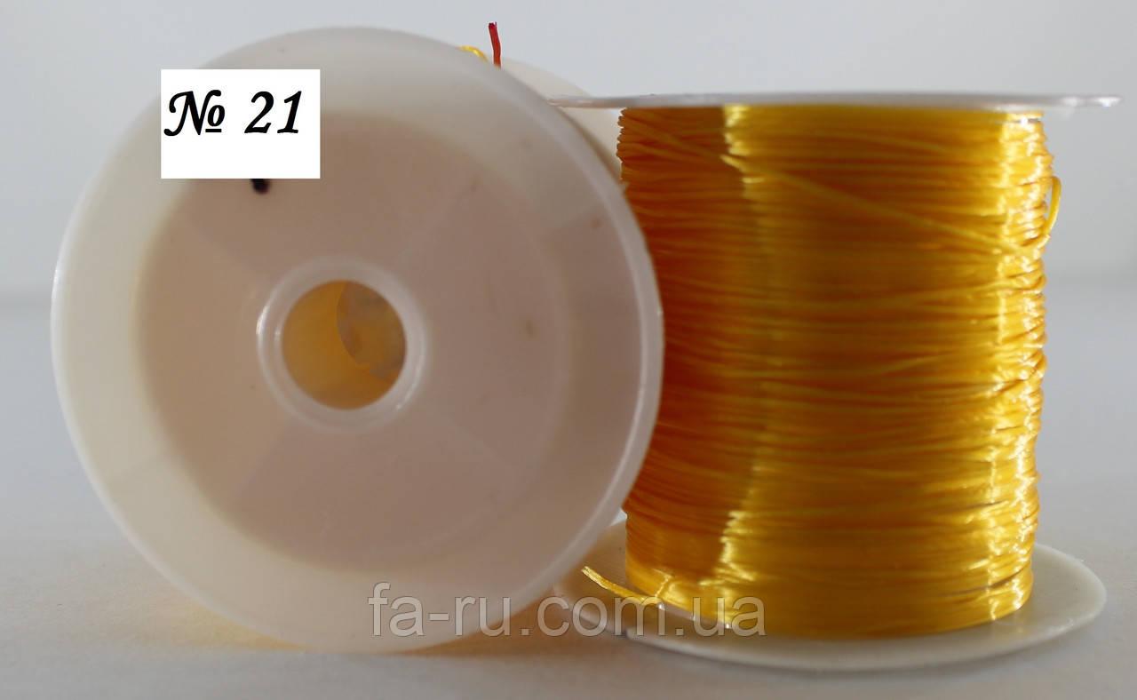 Силиконовая нить-резинка, оранжевая