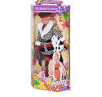 Аналог Барби кукла «Susy» 2816: шарнирная, одежда, сумка, кошка, коробка 32х16х6 см