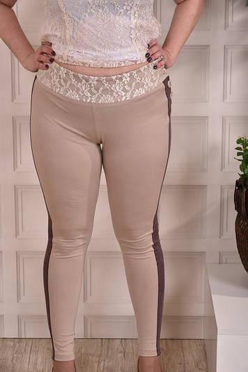 Облегающие брюки больших размеров 0252 беж