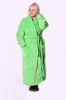 Качественный махровый длинный женский халат